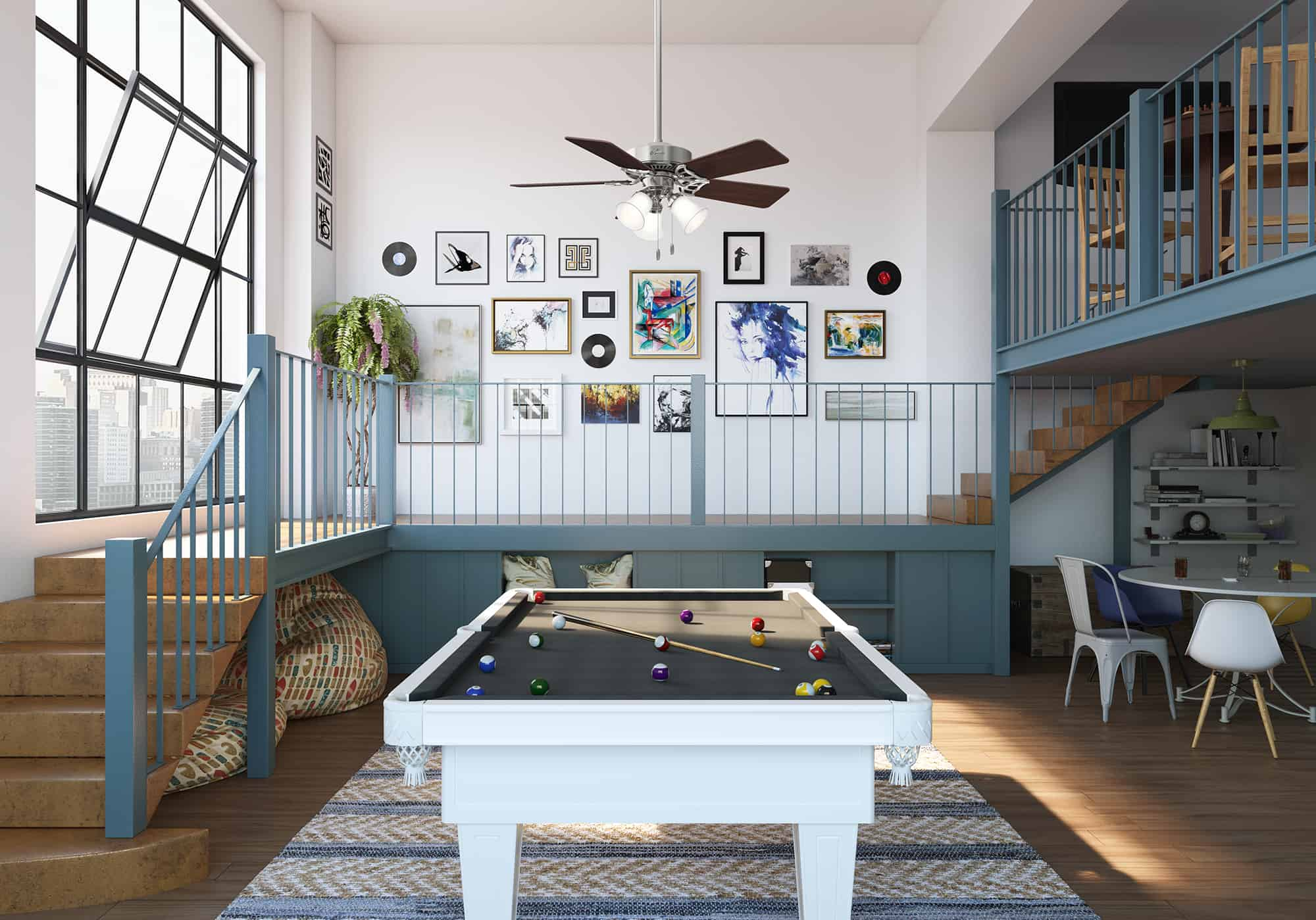 Best Pool Table Lights with Ceiling Fan