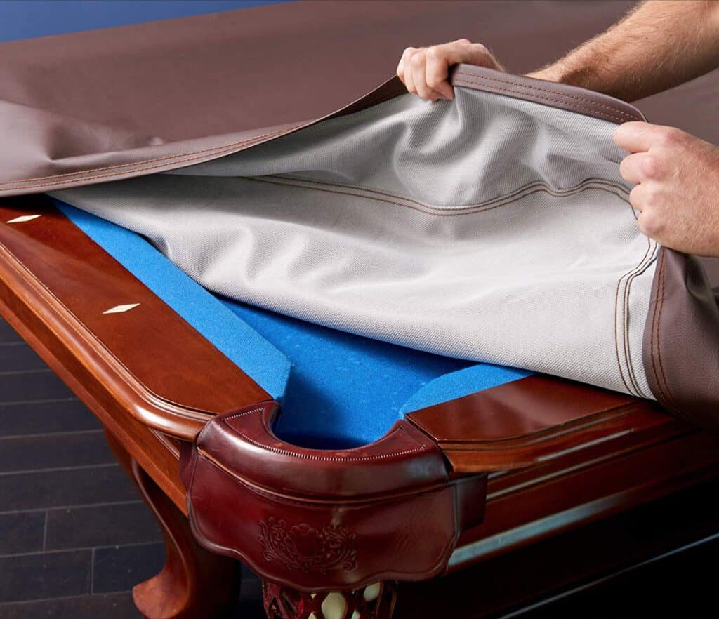 Lilypad Lake Heavy Duty Premium 8 Foot Leatherette Billiard Pool Table Cover - Puncture-Resistant, Spill-Proof, Dust Shield - Thick Vinyl Fitted Table Cover