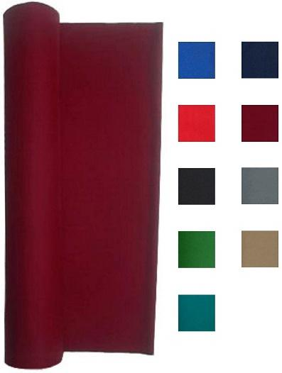 Billiard Cloth - for 7, 8 or 9 Foot Table Choose English Green, Burgundy, Blue, Light Gray, Navy Blue, Black, Red, or Tan