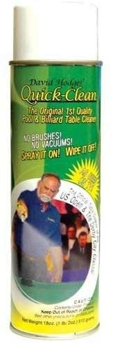 Quick clean pool table felt cleaner