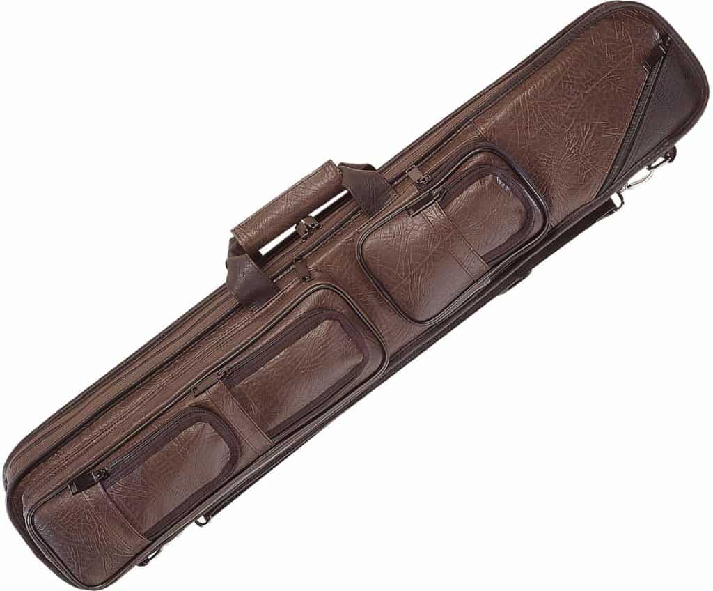 Lucasi Brown Leatherette Soft Case with Black Accents